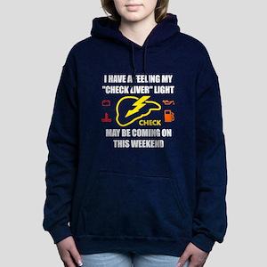 Check Liver Light Women's Hooded Sweatshirt