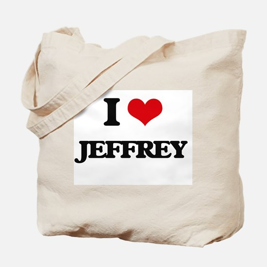 I Love Jeffrey Tote Bag