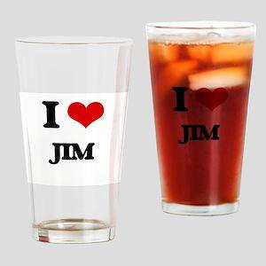 I Love Jim Drinking Glass
