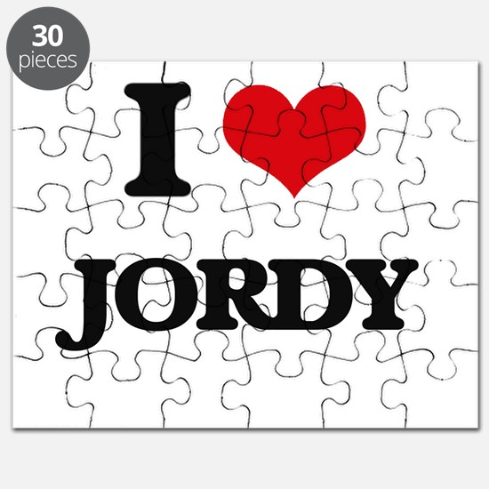 I Love Jordy Puzzle