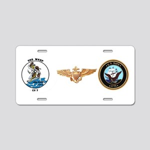 USS Wasp CV 7 Aluminum License Plate