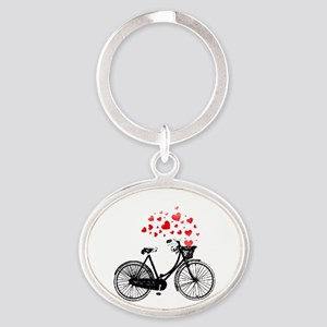 Vintage Bike With Hearts Keychains