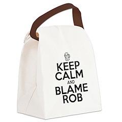 Keep Calm & Blame Rob Canvas Lunch Bag