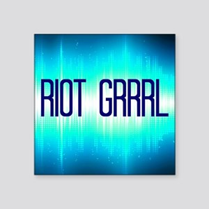 "Riot Grrrl 2 Square Sticker 3"" x 3"""