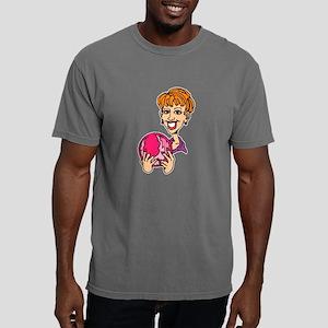 Lady Bowler In Pink Mens Comfort Colors Shirt