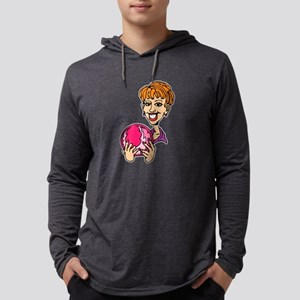 Lady Bowler In Pink Mens Hooded Shirt