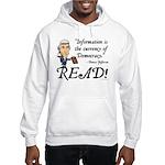 Thomas Jefferson - Read!<br> Hooded Sweatshirt
