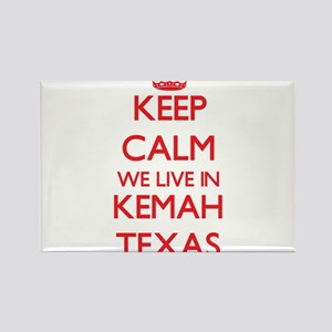 Keep calm we live in Kemah Texas Magnets