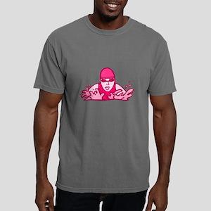 Pink Swimming Mens Comfort Colors Shirt