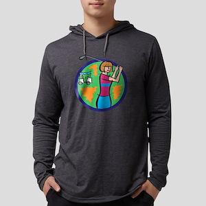 Woman Golfer Mens Hooded Shirt