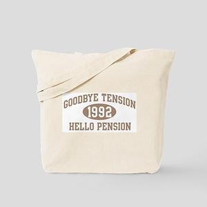 Hello Pension 1992 Tote Bag