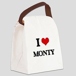 I Love Monty Canvas Lunch Bag