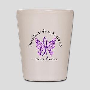 Domestic Violence Butterfly 6.1 Shot Glass