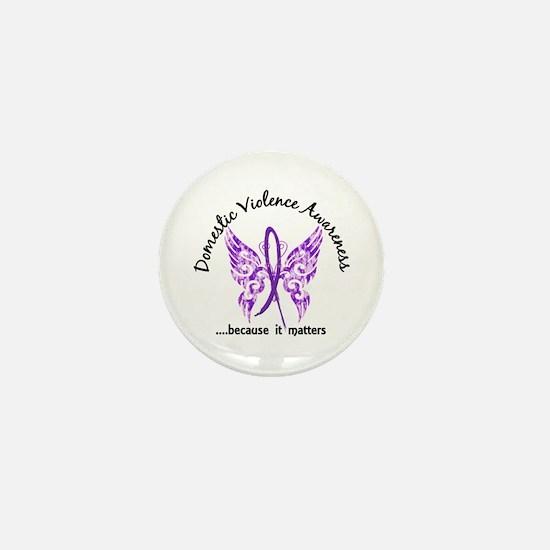 Domestic Violence Butterfly 6.1 Mini Button
