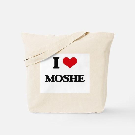 I Love Moshe Tote Bag