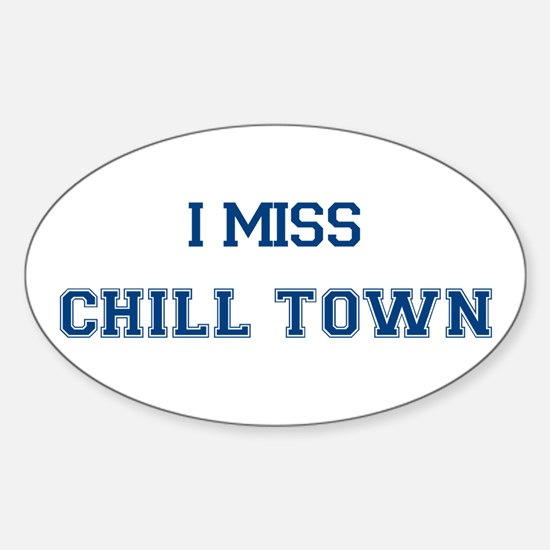 Chill Town Oval Decal