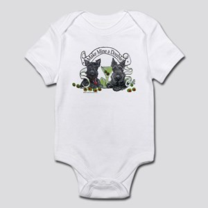 Scottish Terrier Double Infant Bodysuit