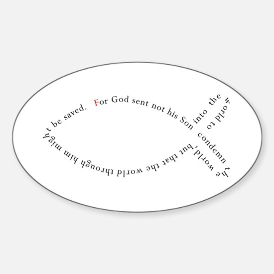 John 3:17 Ichthys Decal