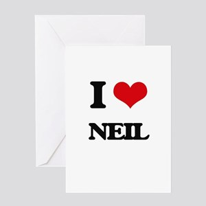 I Love Neil Greeting Cards