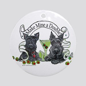 Scottish Terrier Double Ornament (Round)