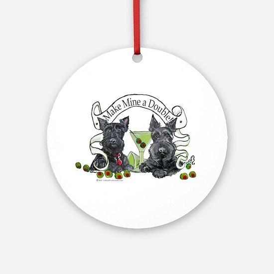 Scottish Terrier Double Ornament (Round)