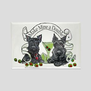Scottish Terrier Double Rectangle Magnet