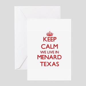 Menards greeting cards cafepress keep calm we live in menard texas greeting cards m4hsunfo
