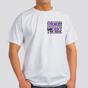 Domestic Violence HowStrongWeAre Light T-Shirt