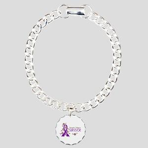 Domestic Violence Surviv Charm Bracelet, One Charm