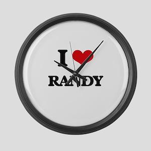 I Love Randy Large Wall Clock