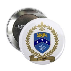 COURVILLE Family Crest Button