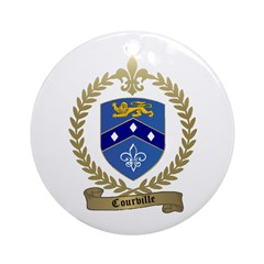 COURVILLE Family Crest Ornament (Round)