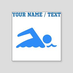 Custom Blue Swimmer Sticker