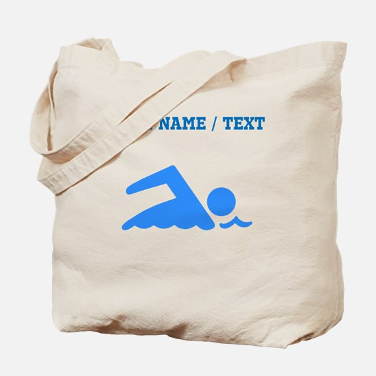 Custom Blue Swimmer Tote Bag