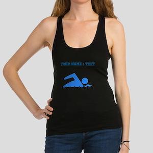 Custom Blue Swimmer Racerback Tank Top