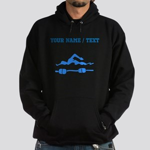 Custom Blue Swimmer Hoodie