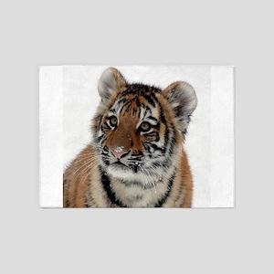 Tiger_2015_0114 5'x7'Area Rug