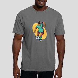 Soccer girl - red/yellow Mens Comfort Colors Shirt