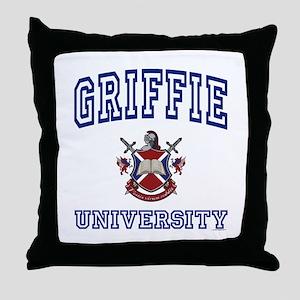 GRIFFIE University Throw Pillow