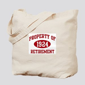 1924: Property of Retirement Tote Bag