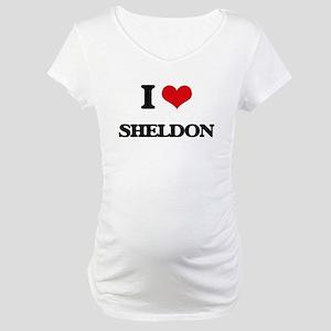 I Love Sheldon Maternity T-Shirt