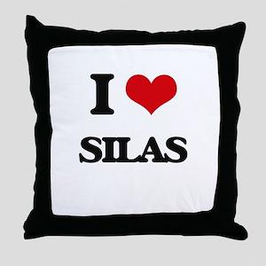 I Love Silas Throw Pillow