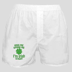 Kiss Me Spank Me I'm Irish Boxer Shorts