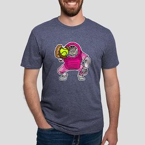 Pink Softball Catcher Mens Tri-blend T-Shirt