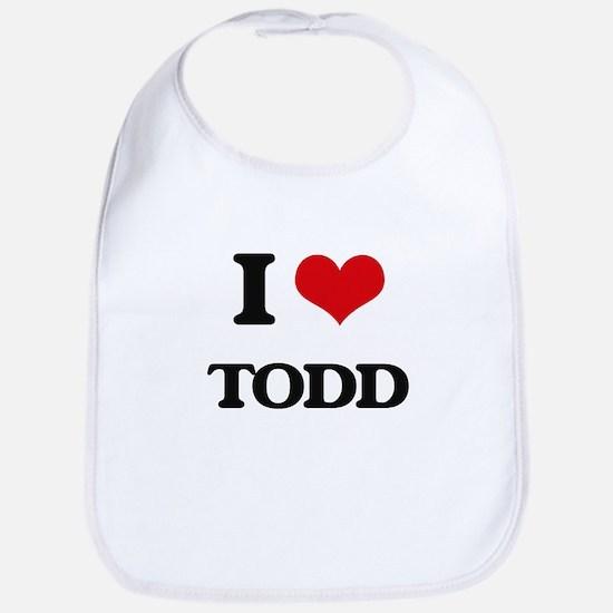 I Love Todd Bib