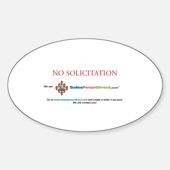 NO SOLICITATION Oval Decal