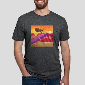 Surf Scape Mens Tri-blend T-Shirt