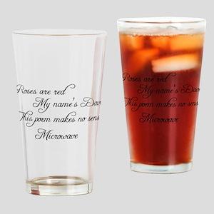 Makes no sense, Funny Poem Drinking Glass