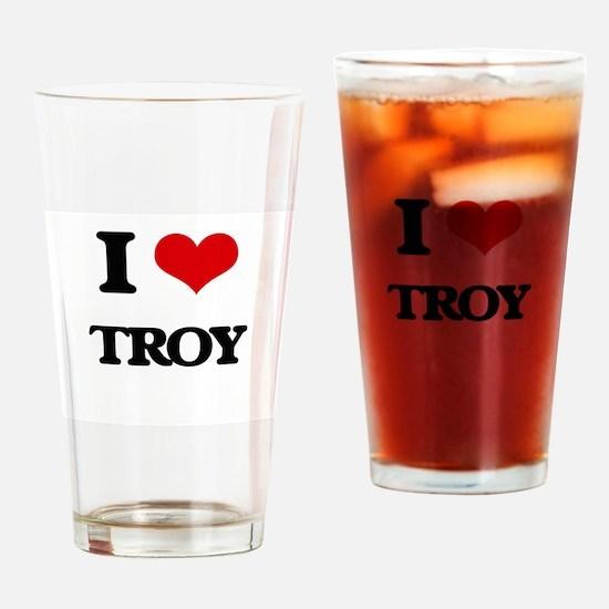I Love Troy Drinking Glass