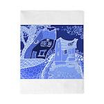 Blue love houses Twin Duvet
